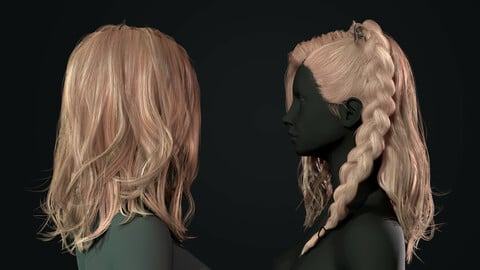Realtime hair + female body + bow