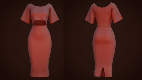 Female outfit - 3D Skirt and blouse