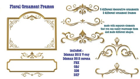 80 Ornament Frames, 40 Ornament skirting boards  and 5 Floral Ornament