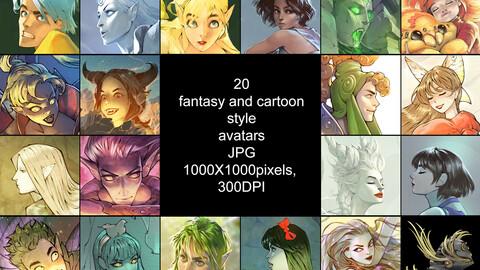 20 fantasy avatars