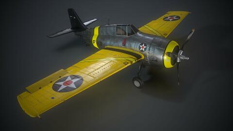 Grumman F4F 3 Wildcat Game Ready Asset.