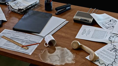 Office table. *Full project*