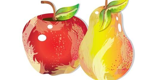 fruit vector graphics