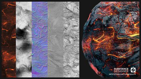 Molten Lava | Texture Maps