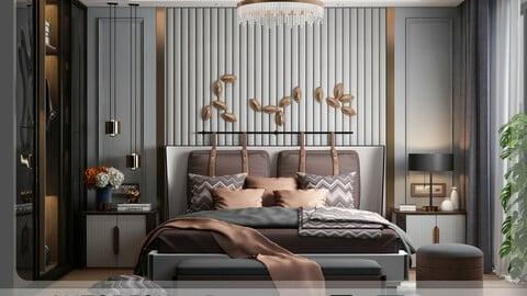 Interior - Modern Style Bedroom - 622