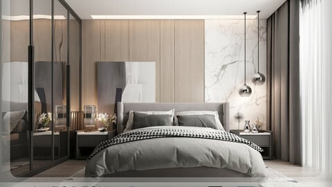 Interior - Modern Style Bedroom - 603