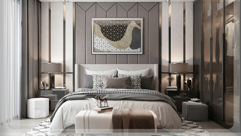 Interior - Modern Style Bedroom - 600