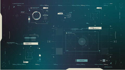 FUI / UI - Screen graphics / HUD / Windows set