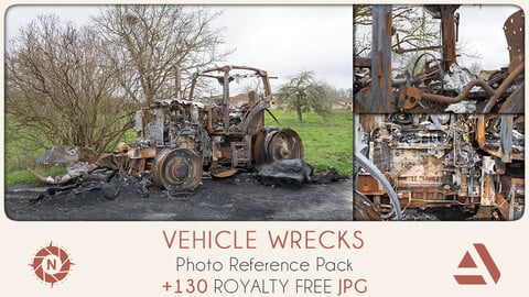 Photo Reference Pack: Vehicle Wrecks