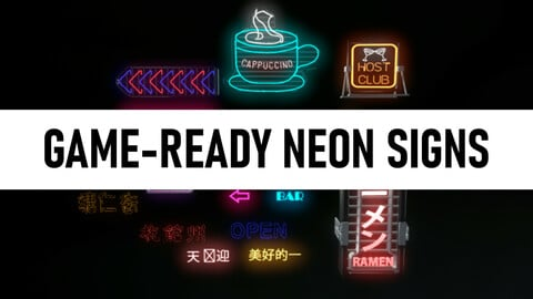 Game Reay Neon Signs