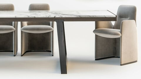 Coleccion 5 - Table and Chairs 3d
