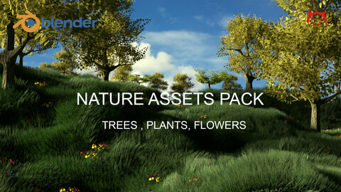Nature Assets Pack - Trees, Plants and Flowers