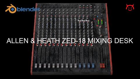 Allen & Heath ZED-18 Worn, Aged USB Mixing Desk