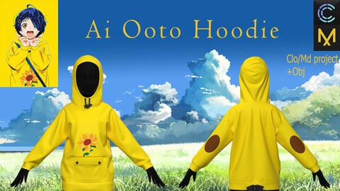 Clo3d, Marvelous Designer project +Obj. Ai Ooto Hoodie