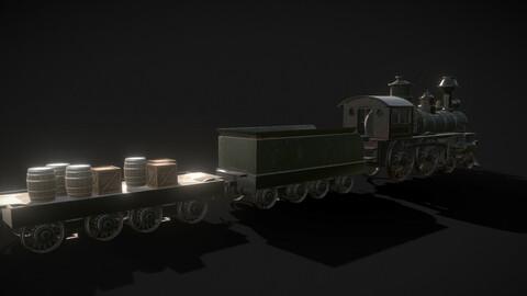 Train kids toy west scene locomotive