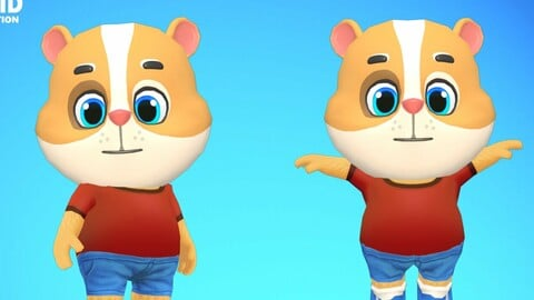 Hamster Guinea Pig Mouse Animated Rigged