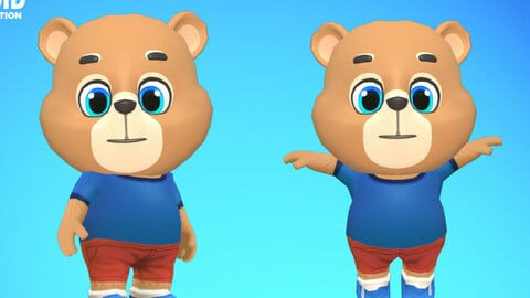 Bear Grizzly Animated Rigged