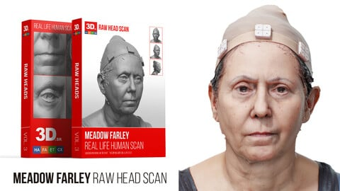 Meadow Farley Raw 3D Head Scan