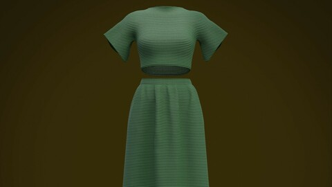 3D Female clothing  - 2piece outfit