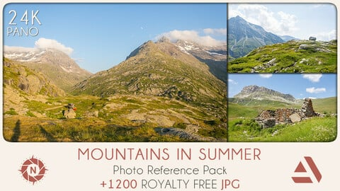 Photo Reference Pack: Mountains in summer