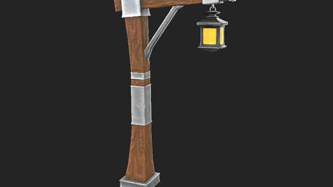 Stylized Lamp Post