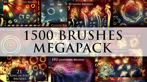 1500 Photoshop Brushes Megapack