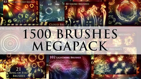 1500 Photoshop Brushes Megapack