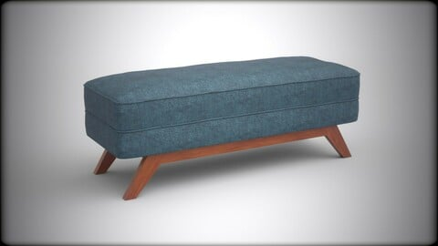 Kensley bench sky upholstered