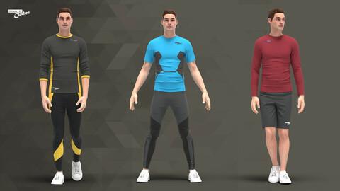 Men Sport Outfit - 65 Marvelous Designer, Clo3D