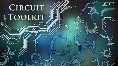 Circuit Toolkit(SVG/PNG/EPS/Brushes)