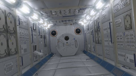 NASA ISS Spaceship Interior