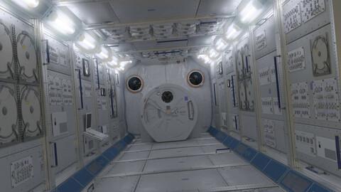 NASA ISS Spaceship Interior