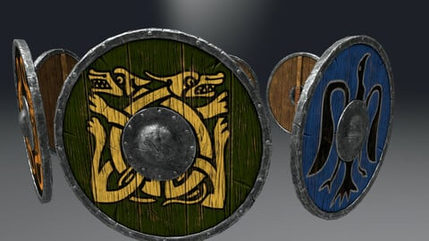 Viking Shields props set