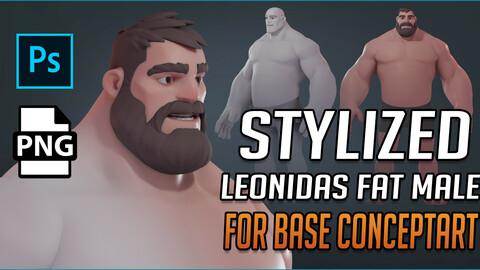 STYLIZED Leonidas Fat Body for base ConceptART