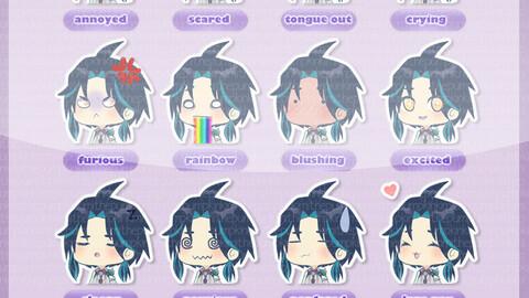 Genshin Impact Xiao 12 emoji pack