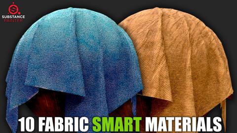 10 Fabric Smart Materials vol.2 (Substance Painter)