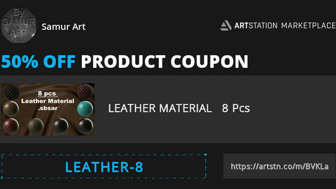LEATHER MATERIAL   8 Pcs //  50%  Discount Coupon For The  First 10 People.   Don't Miss