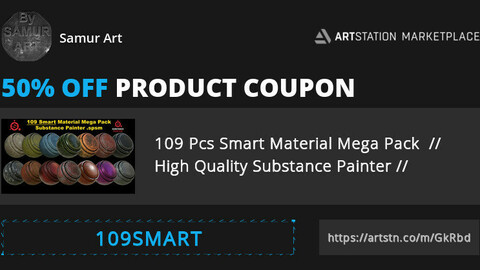 109 Pcs Smart Material Mega Pack  // High Quality Substance Painter // Short Time 50% Discount