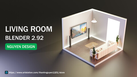 living room. render blender 2.92