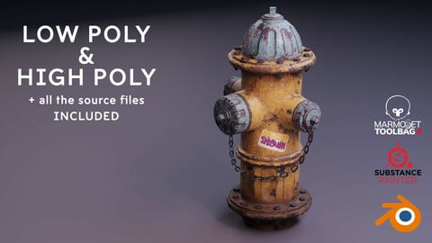Hydrant - Low poly and High poly