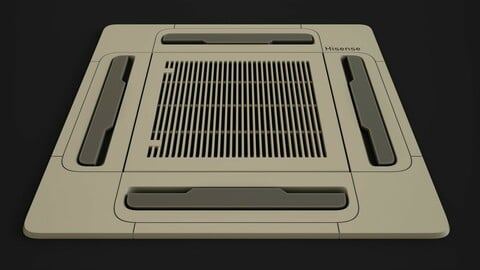 Ceiling Type Air Conditioner  // PBR MATERIAL-  //    %100 Substance Designer