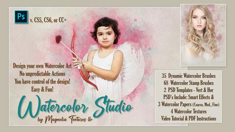 © Watercolor Studio by Magnolia Textures LLC