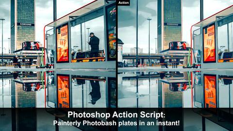 Painterly Photobash Action