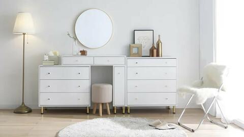 Dior extended storage vanity set