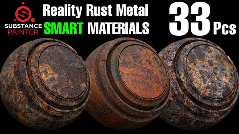 🌟33 Rust Metal Smart Material Pack🌟