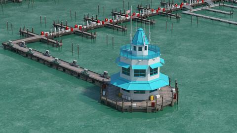Marina Model of Floating Dock