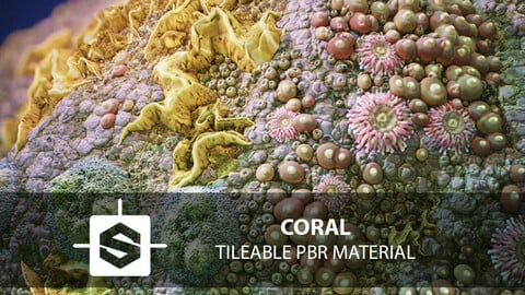 Coral Reef PBR Tileable Material Texture