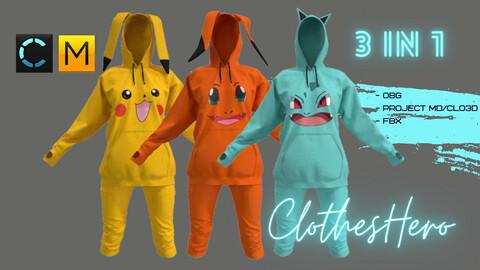 Suit Pokémon (hoodie + pants)