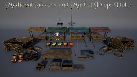 Medieval Tavern and Market Assets Pack Vol.2