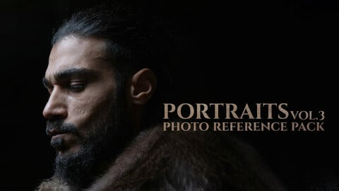 Portraits vol. 3, Model: Arash, 400 JPEGs Photo Reference Pack for Artists